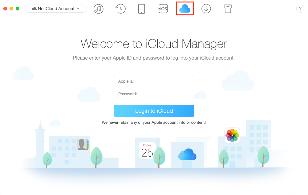 How to Access iCloud Backup with AnyTrans – Step 1