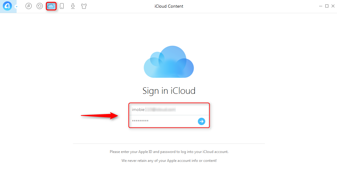 How to Access iCloud Drive with AnyTrans - Step 1