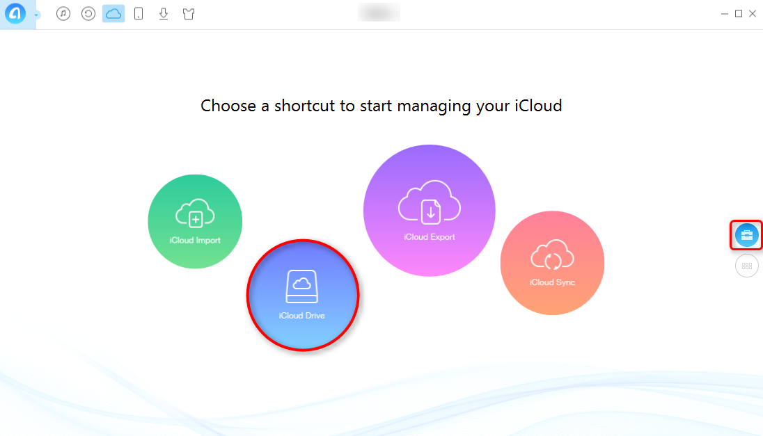 How to Access iCloud Drive with AnyTrans - Step 2