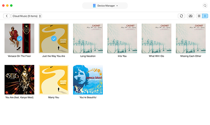 How to Access iCloud Music Library on Computer via AnyTrans for iOS - Step 4
