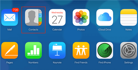How to Get Contacts from iCloud Online – Step 1