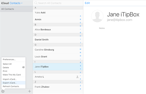 How to Access iCloud Contacts on Android - Step 3