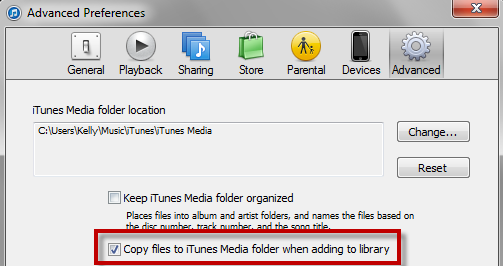 Add Music to iTunes 3