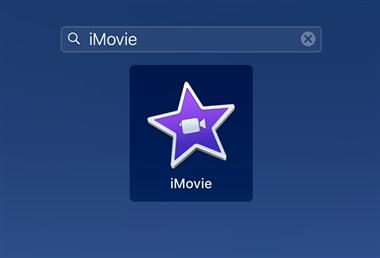 Open the iMovie App