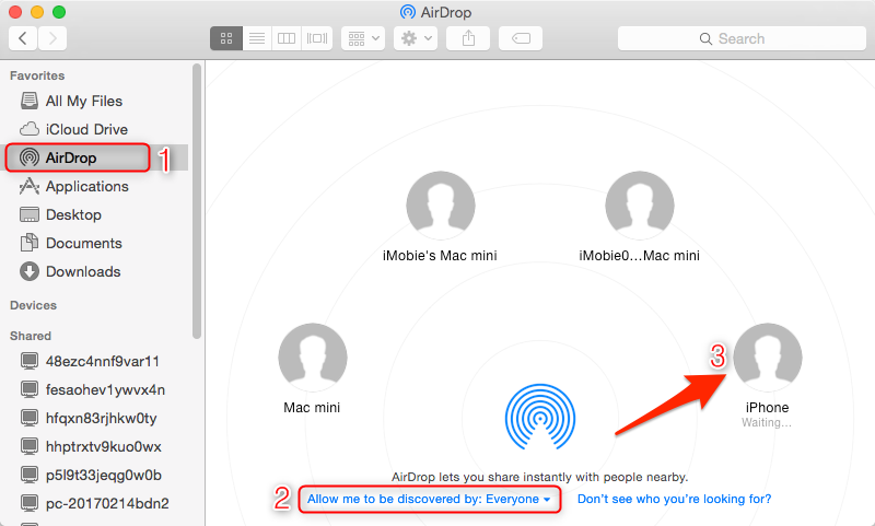 How to AirDrop Music from Mac to iPhone - Step 3