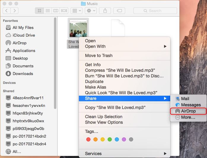 how to share music from my mac to my iphone
