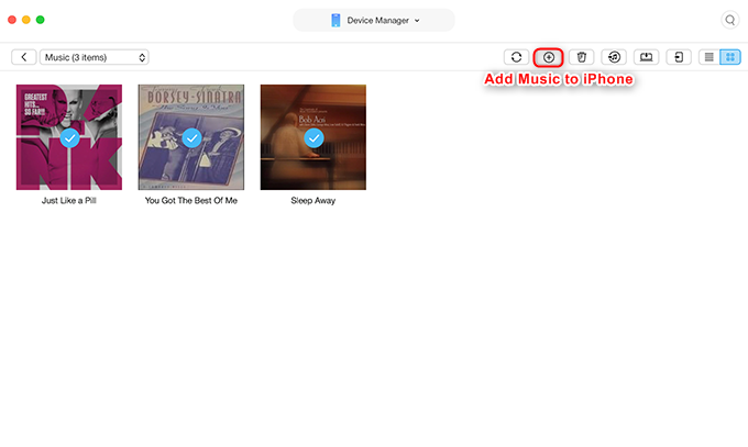 How to Transfer Music from Mac to iPhone via AnyTrans for iOS - Step 3