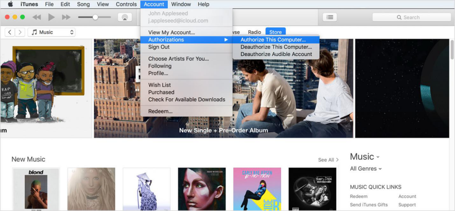How to Authorize A Computer on iTunes for Mac