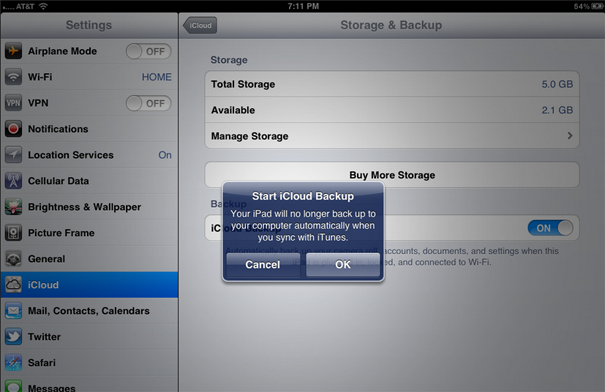 How to Backup an iPad with iCloud