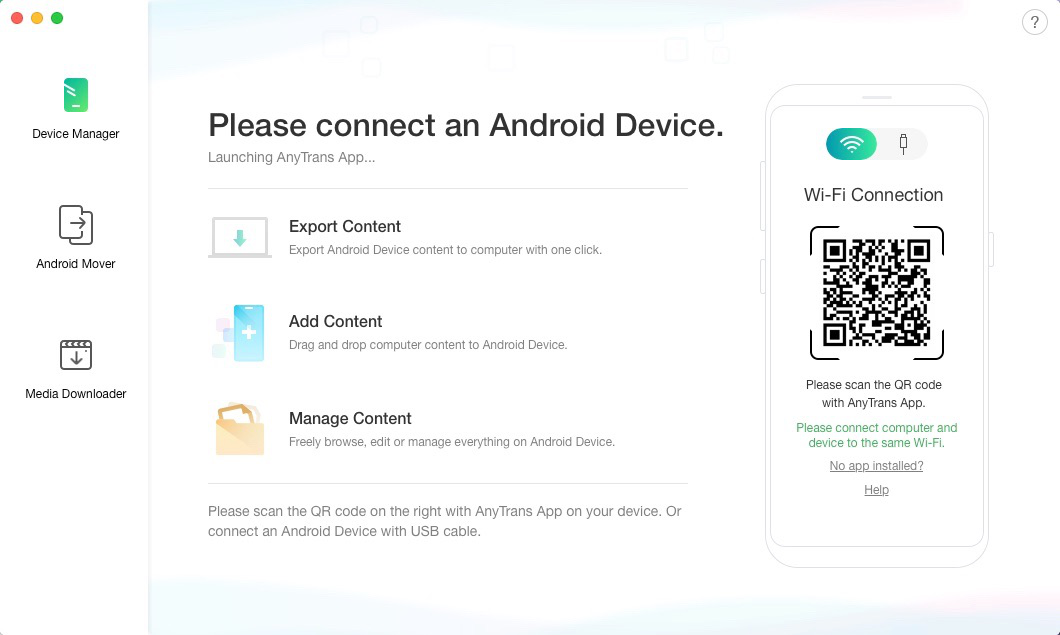Connect Your Phone to AnyDroid Wirelessly