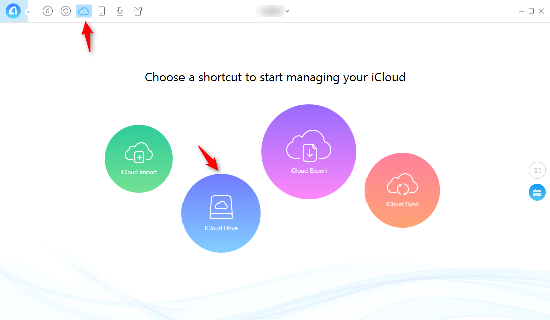 How to Backup Files to iCloud with AnyTrans - Step 2