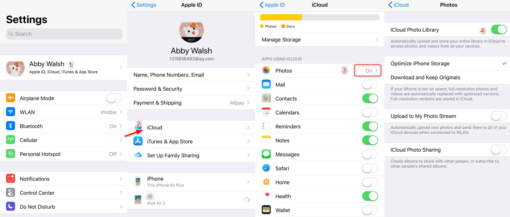 How to Backup iPhone Pictures to iCloud
