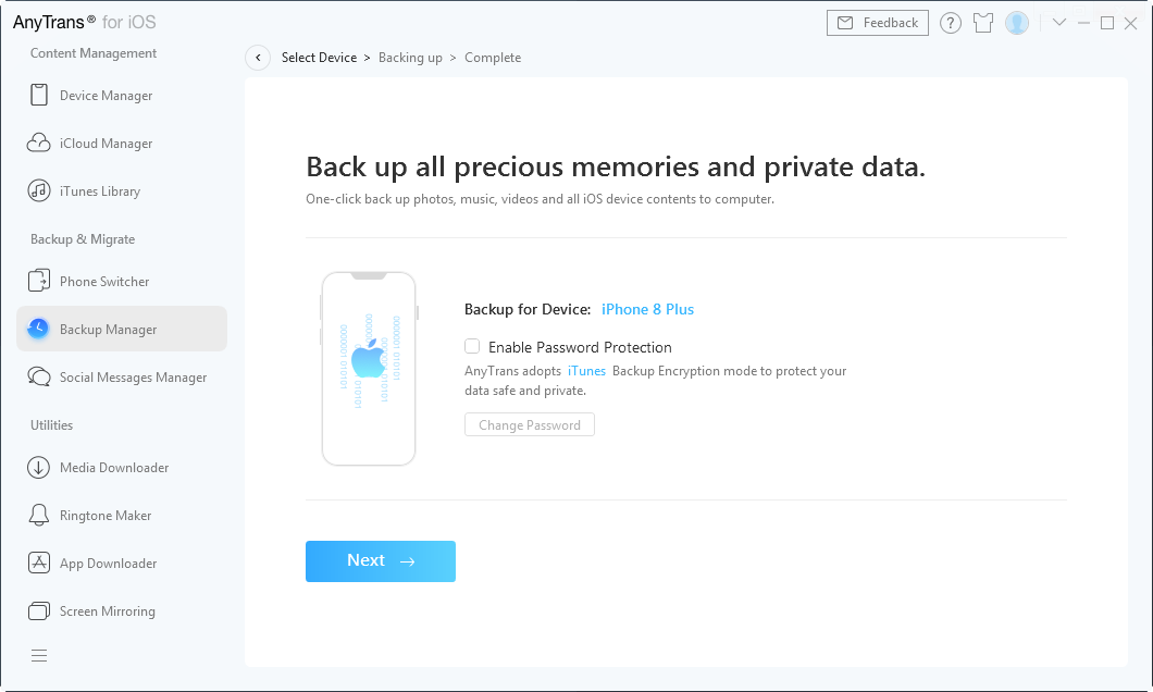 How to Backup iPhone with iCloud Alternative - Step 3