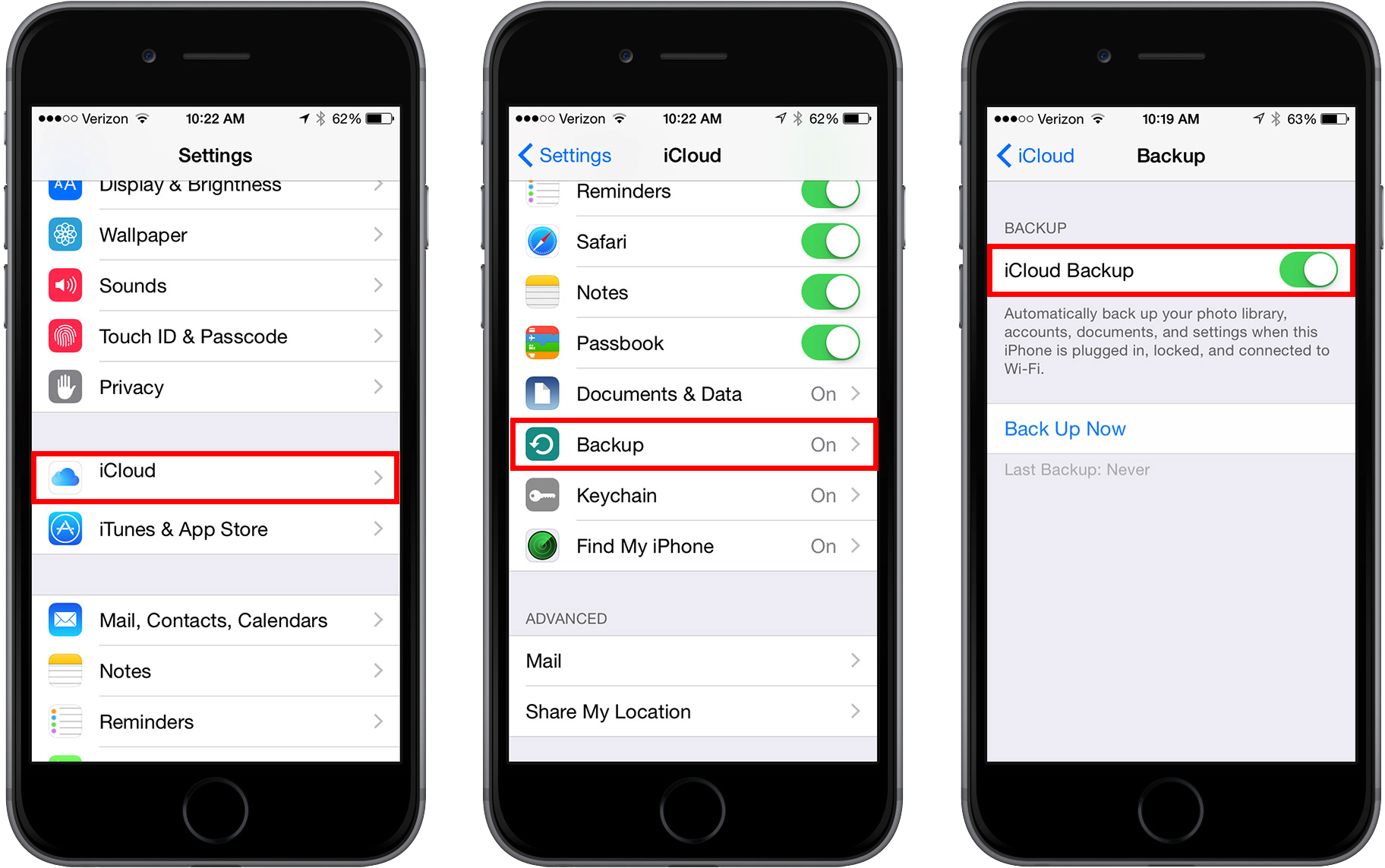 How to Backup iPhone 6/6s/4/4s/5/5s/5c/SE/7 to iCloud