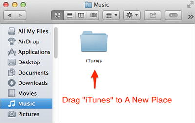 Backup iTunes library to a new place