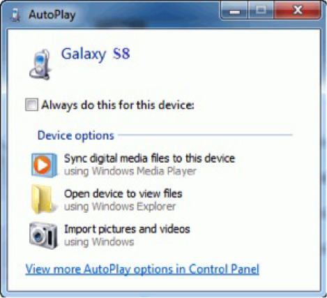 Backup Photos on Android via AutoPlay