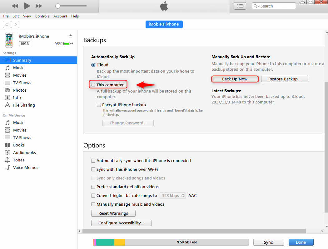 iphone not backing up guide how to backup and restore iphone with itunes 1589