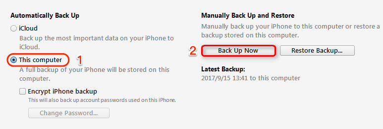 How to Backup Messages from iPhone X/iPhone 8 (Plus) with iTunes