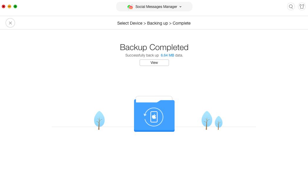 Viber backup successfully created