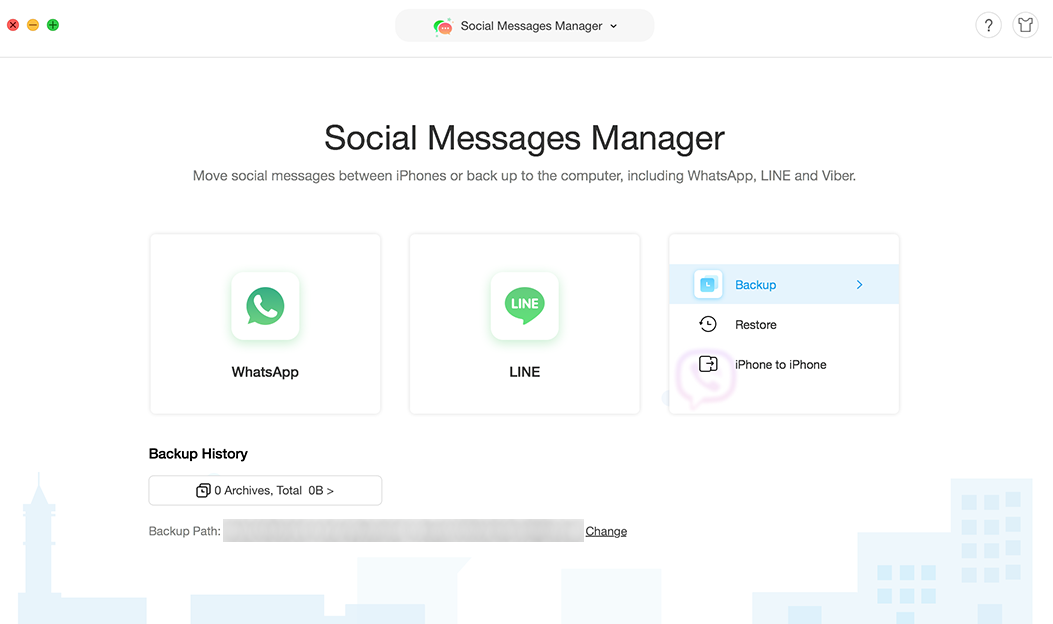 Backup Viber messages with AnyTrans for iOS