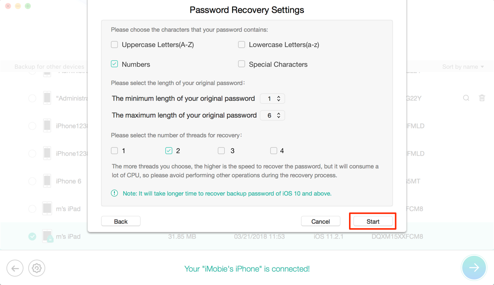 How to Bypass a Forgotten iPhone Backup Password - Step 2