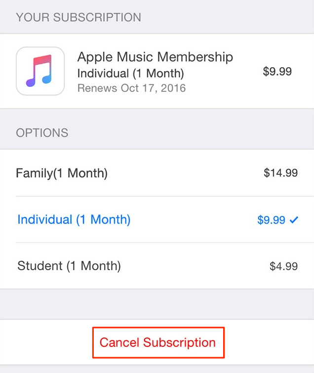 How to Cancel Subscription on iPhone/iPad
