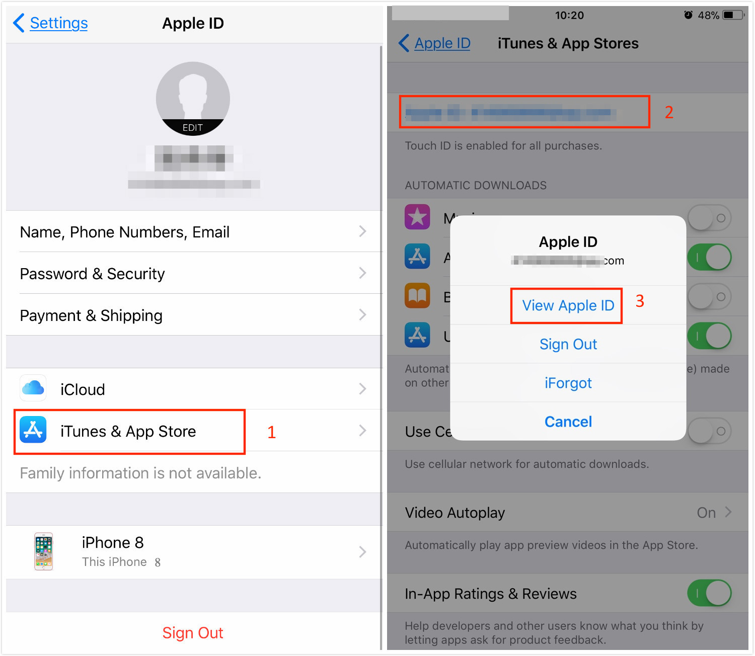 How to Change App Store Location - Step 2