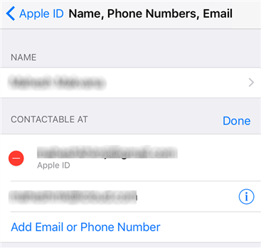 Remove the existing Apple ID from your device