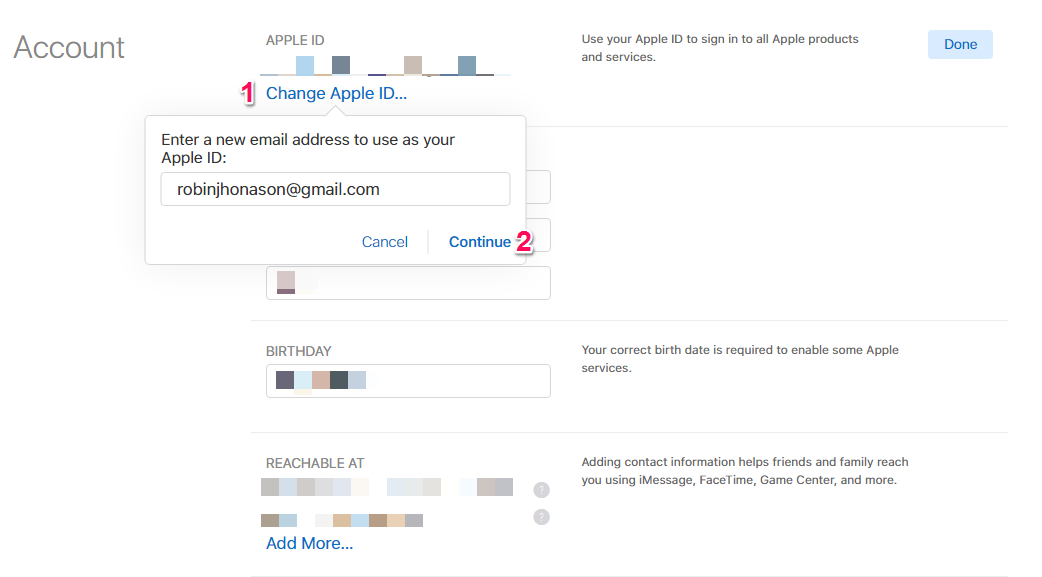 How to Change iCloud Email - Step 2