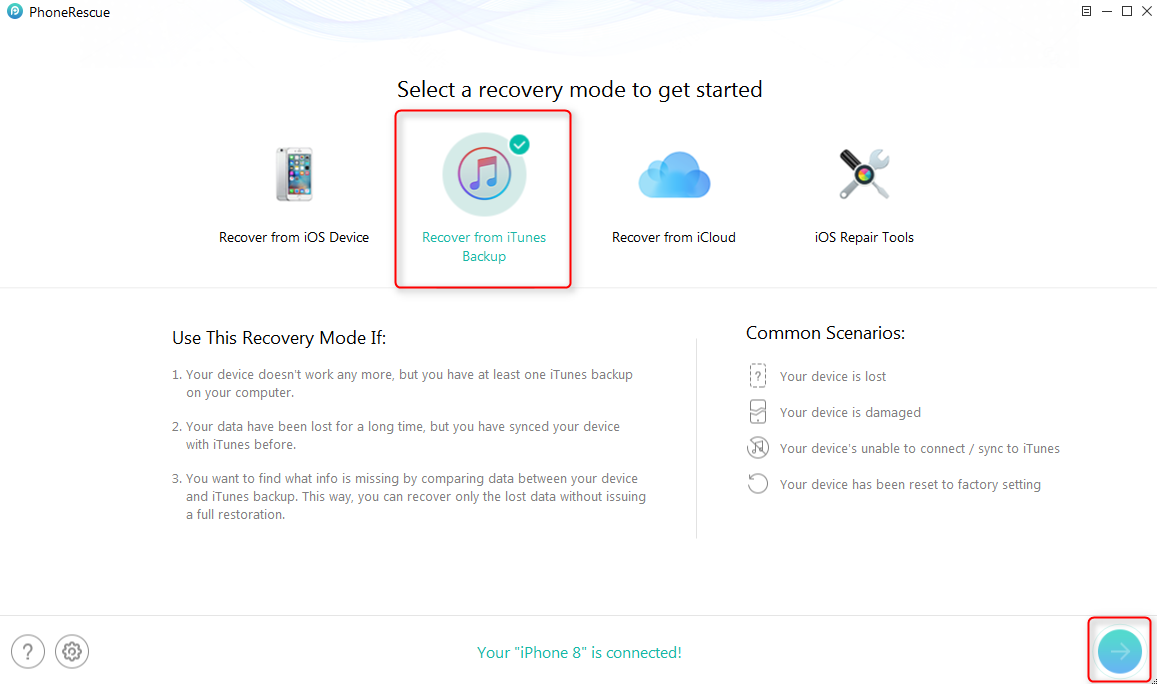 How to View and Extract Data from iTunes Backup - Step 1
