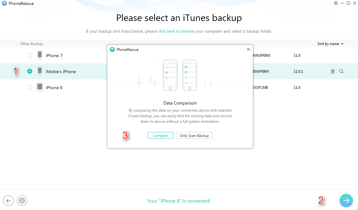 How to View and Extract Data from iTunes Backup - Step 2
