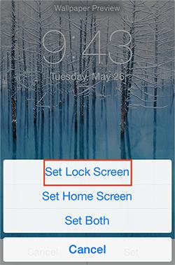 Choose to Set Lock Screen