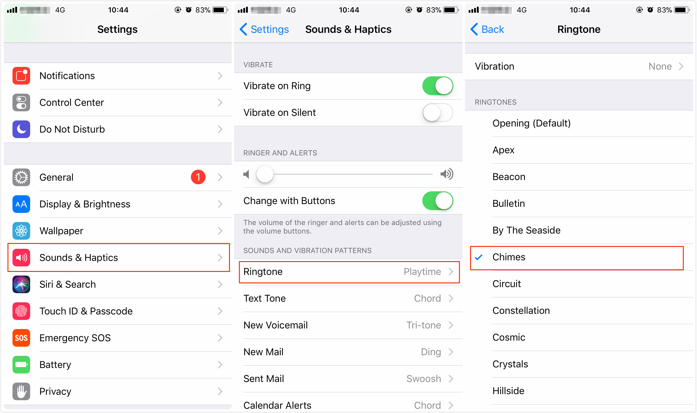 how to change iphone ringtone change and set ringtone on iphone x 8 7 6s 6 5s in ios 11 2295