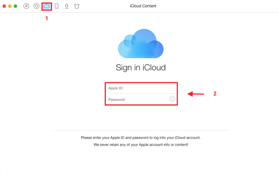 How to Check iCloud Photos with AnyTrans - Step 1