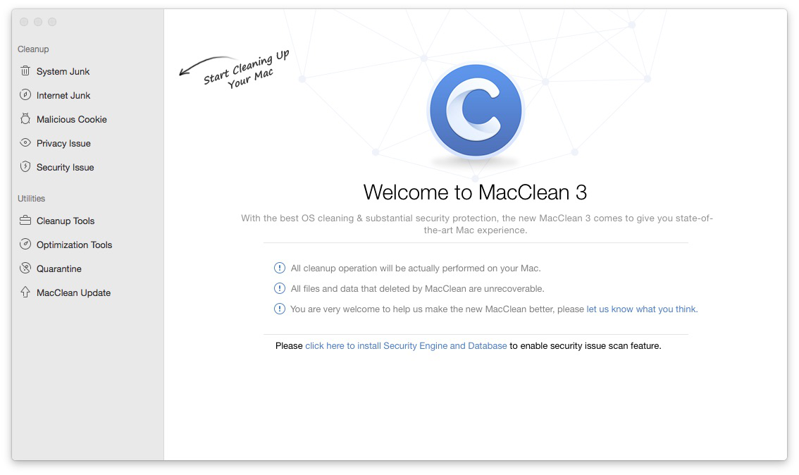 How to Clean Up Mac with MacClean Step 1