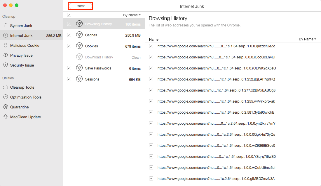 Deleted Browser Junks on macOS Sierra – Step 4