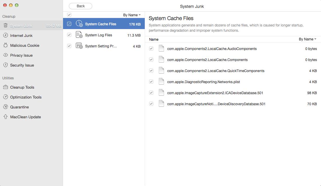 Clear Cache on Mac with MacClean – Step 2