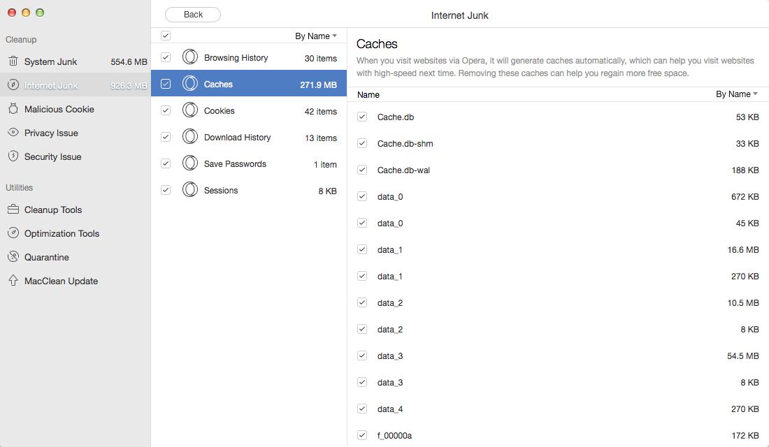 Clear Cache on Mac with MacClean – Step 4