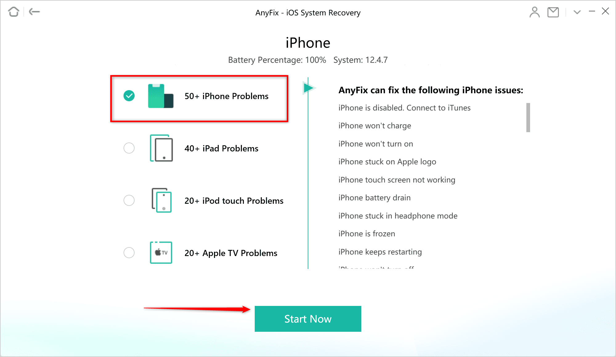 The Best Way to Fix iPhone Issue via AnyFix