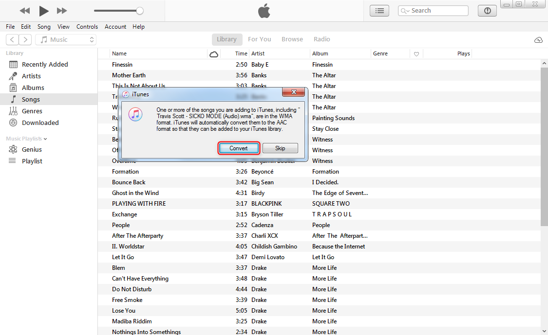 How to Convert WMA to M4R with iTunes - Step 2