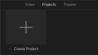 Start a New Project in iMovie