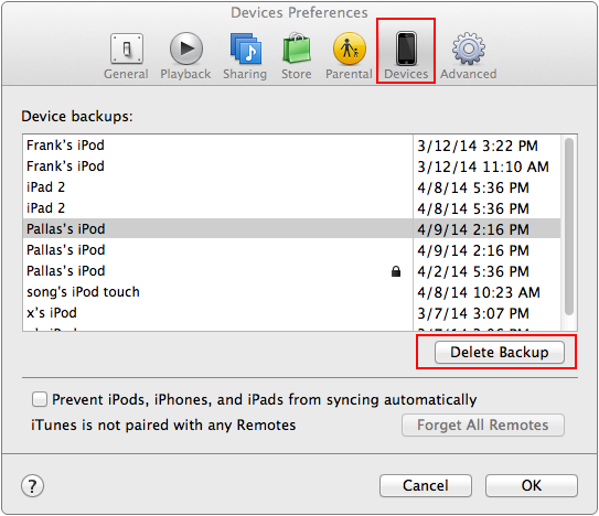 delete iphone backup how to delete a backup in itunes imobie guide 7892