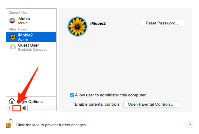 Delete a User Account on Mac Yosemite