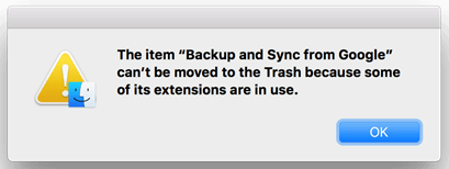 An App Can't Be Moved to Trash from Mac