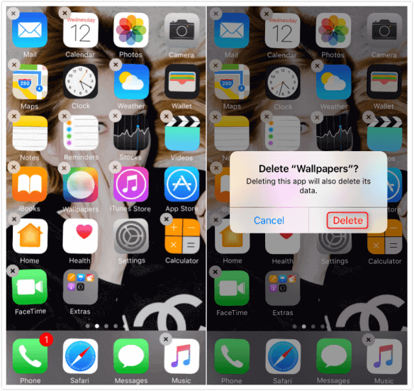 How to Delete Apps on iPhone 6/6s (Plus) from Homepage