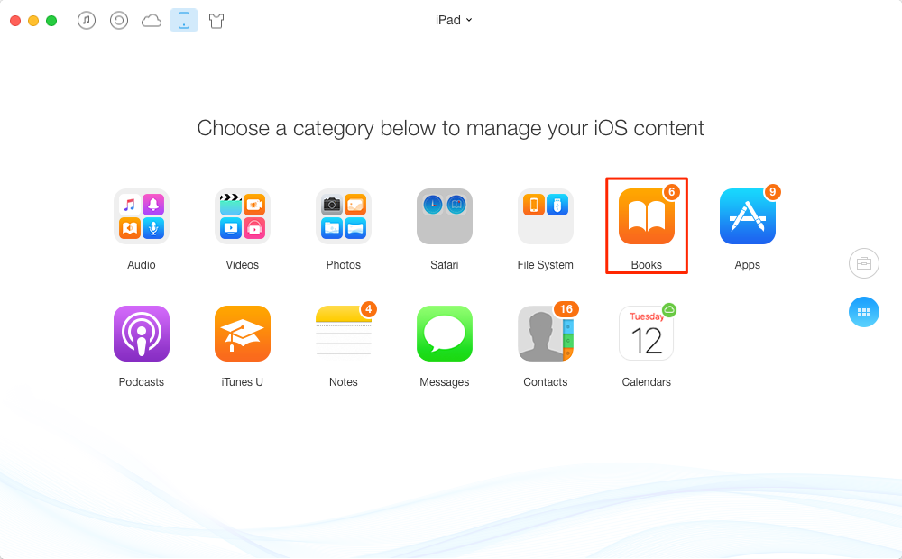 How to Remove Books from iPad with AnyTrans
