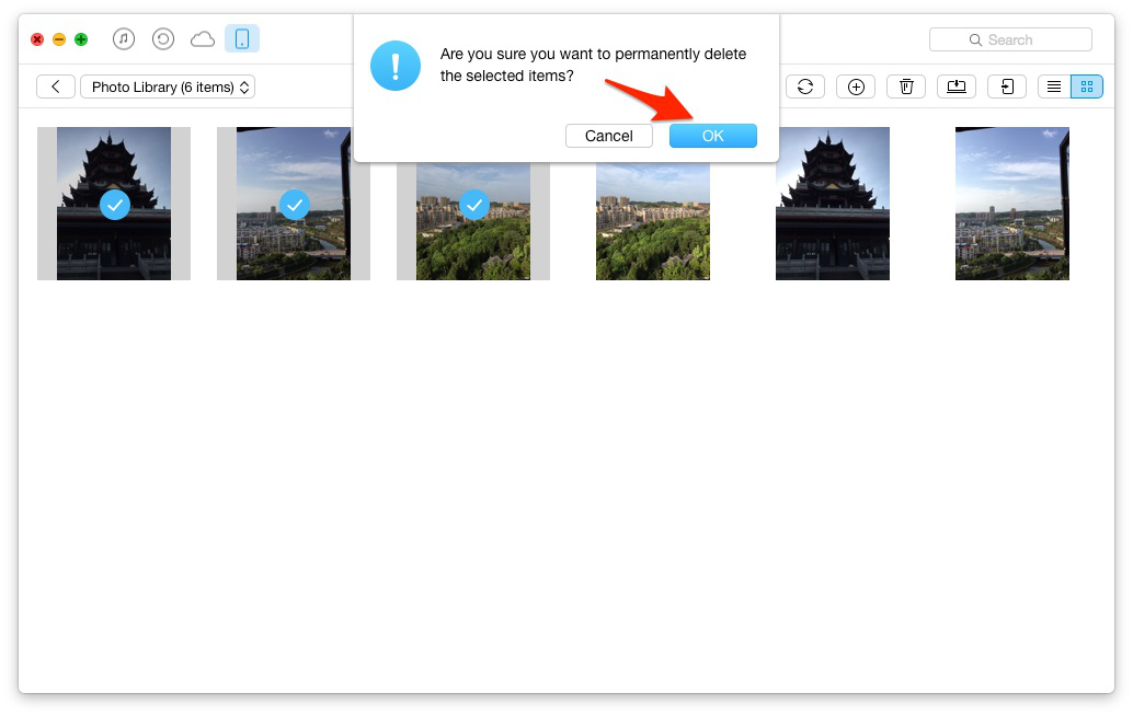Remove Duplicate Photos on iPhone with AnyTrans – Step 3