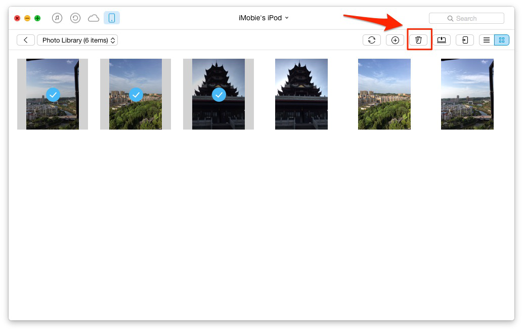 Delete Duplicate Photos on iPhone with AnyTrans – Step 2