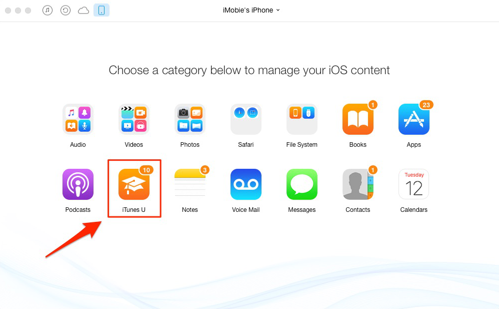 How to Delete iTunes U Courses from iPhone – Step 2
