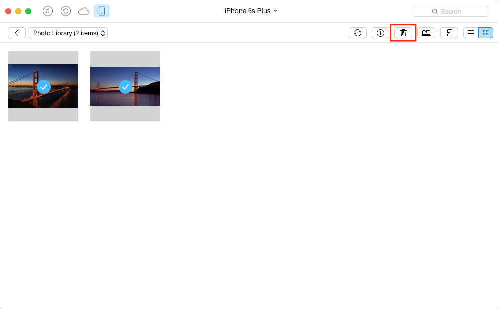 How to Delete Multiple Photos from iPhone – Step 3